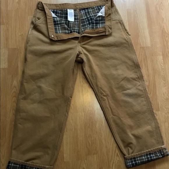 9dcbb94f Carhartt Pants | Carharrt Duck Flannel Lined Dungarees B111 | Poshmark